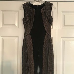 BCBG Black Bodycon Cocktail Dress - Size 0